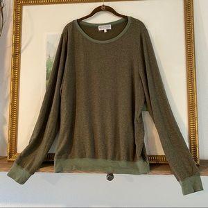 Wildfox Baggy Beach Green Sweater Jumper Shirt Top